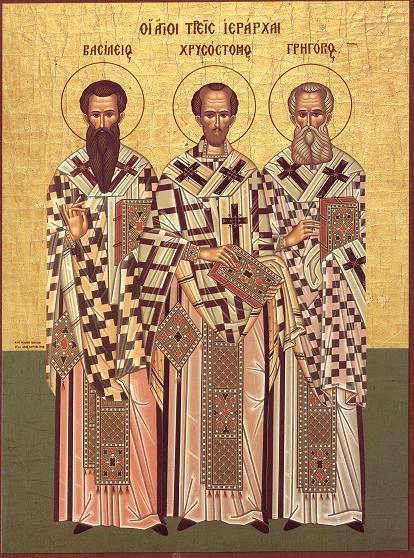 Sfintii Trei Ierarhi-Vasilie cel Mare, Grigorie Cuvantatorul de Dumnezeu si Ioan Gura de Aur Sfinti10