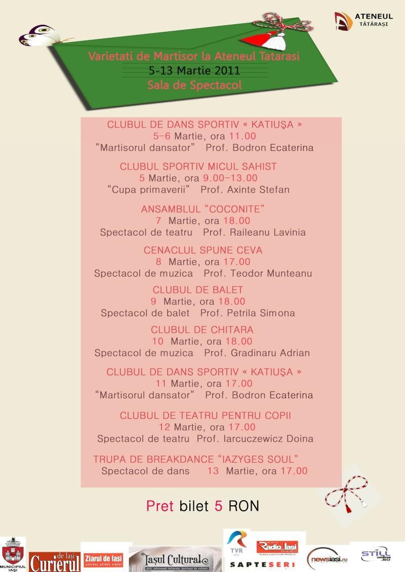 5-13 martie 2011-Varietăţi de Mărţişor la Ateneul Tătăraşi Variet13