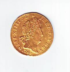 """1/2 Louis d'or aux 8 L  """"Louis XIV"""" Or110"""
