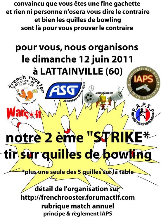 2e match de tir sur quilles de bowling Affich17