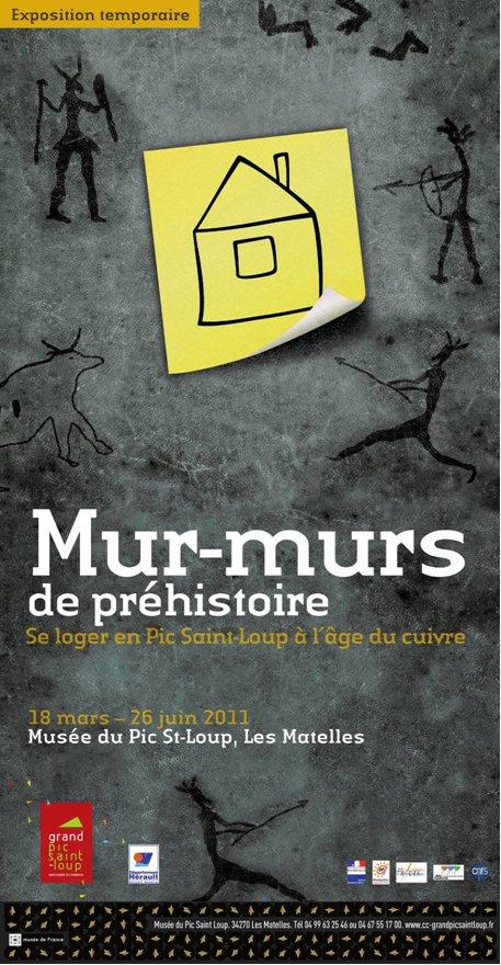 """""""Mur-murs de Préhistoire"""" au Musée du Pic Saint-Loup  Affich11"""