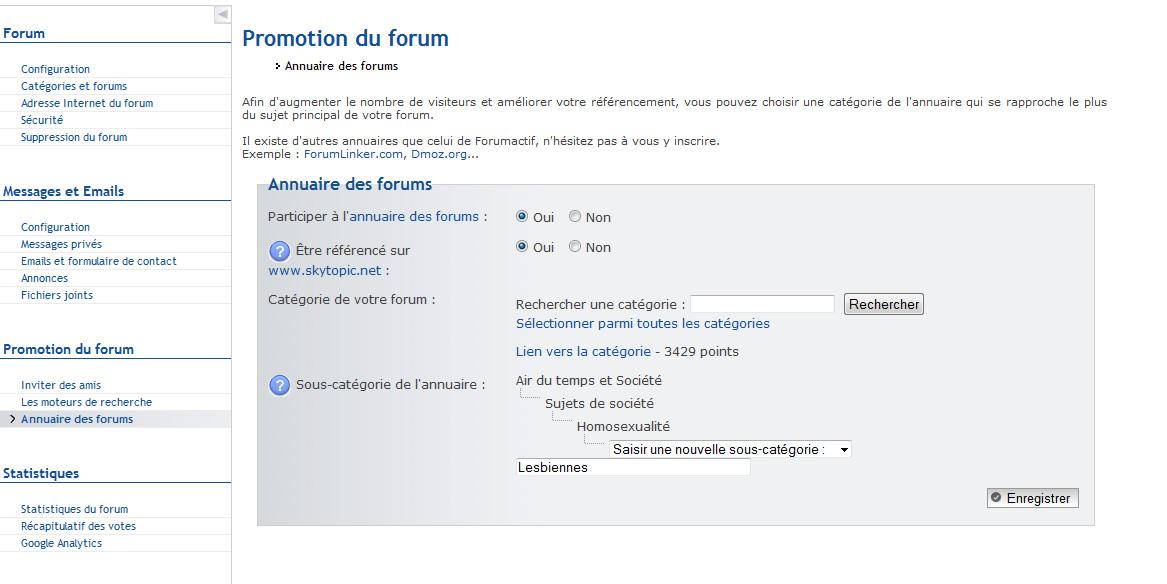 Forum disparu de l'annuaire! Help 110