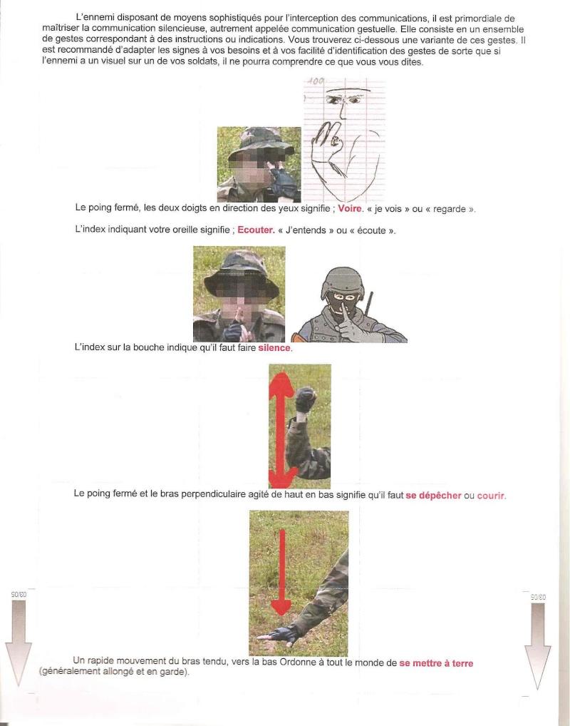 gestuel et Langages des mains , type militaire. 000110