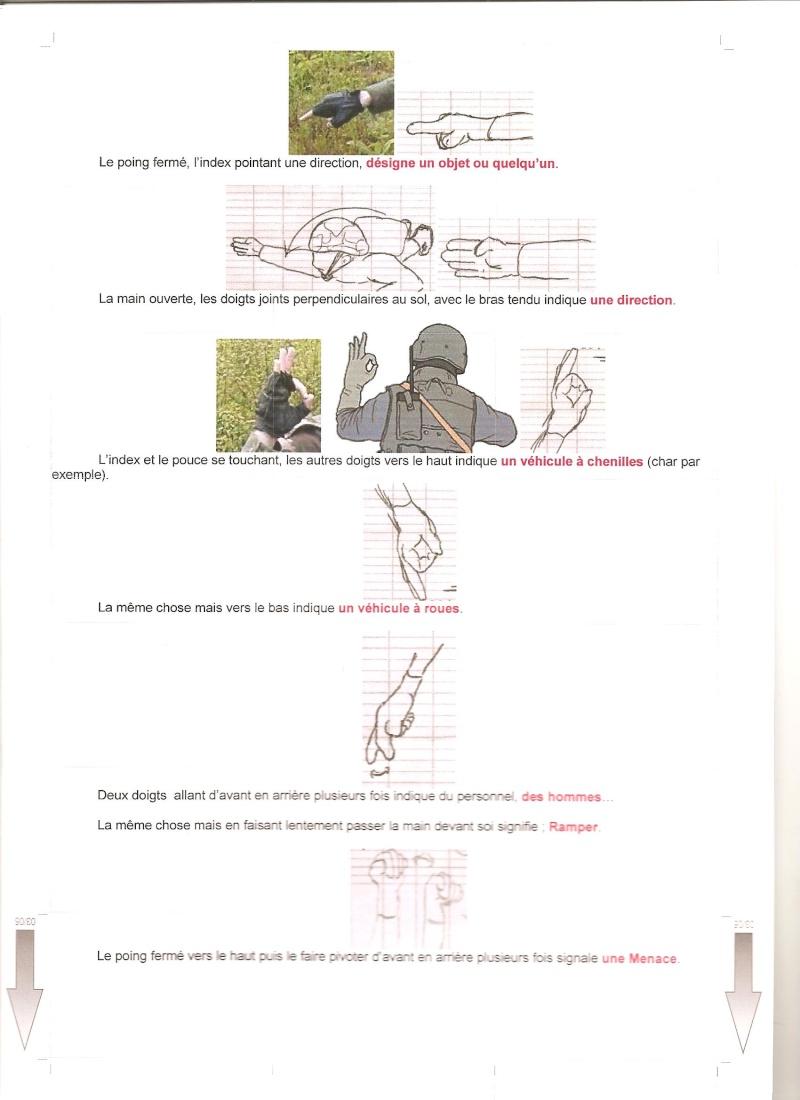 gestuel et Langages des mains , type militaire. 00211