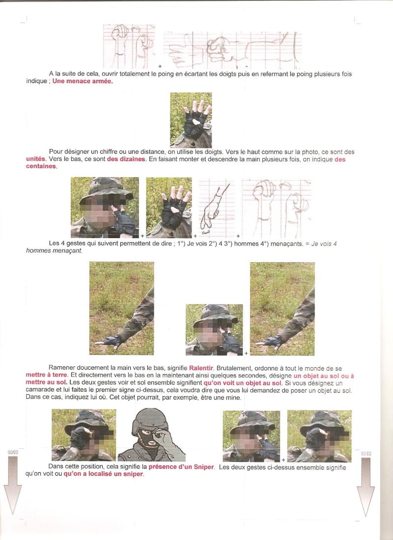 gestuel et Langages des mains , type militaire. 00310