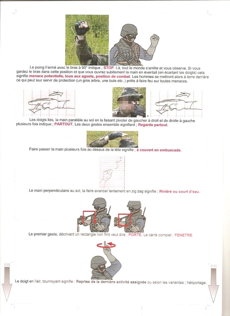 gestuel et Langages des mains , type militaire. 00410
