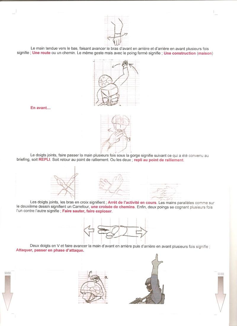 gestuel et Langages des mains , type militaire. 00510