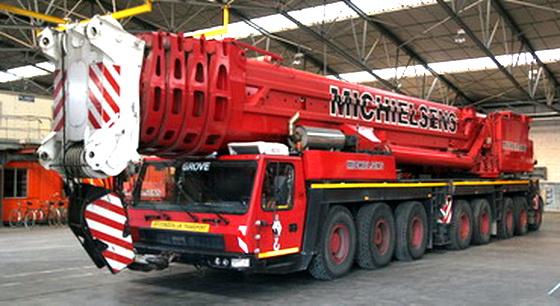 Les grues de MICHIELSENS (Groupe MICHIELSENS) (Belgique) Gmk74511
