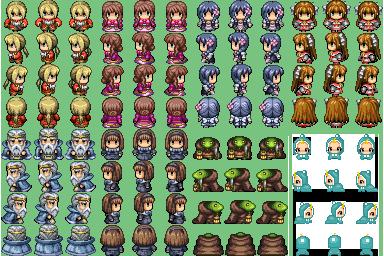 Lot de Characters avec les Facesets associés P1210