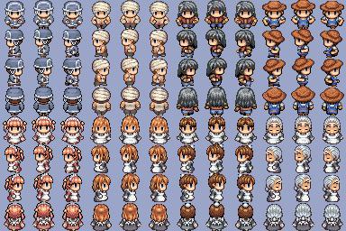 Lot de Characters avec les Facesets associés P510