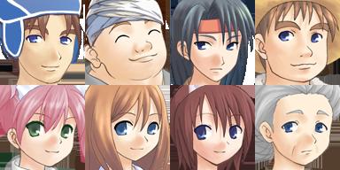 Lot de Characters avec les Facesets associés P5f10
