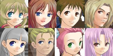 Lot de Characters avec les Facesets associés P6f10