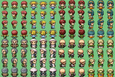 Lot de Characters avec les Facesets associés P710