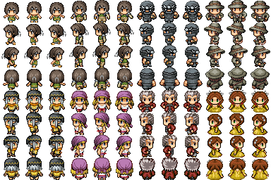 Lot de Characters avec les Facesets associés P810