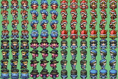 Lot de Characters avec les Facesets associés P910