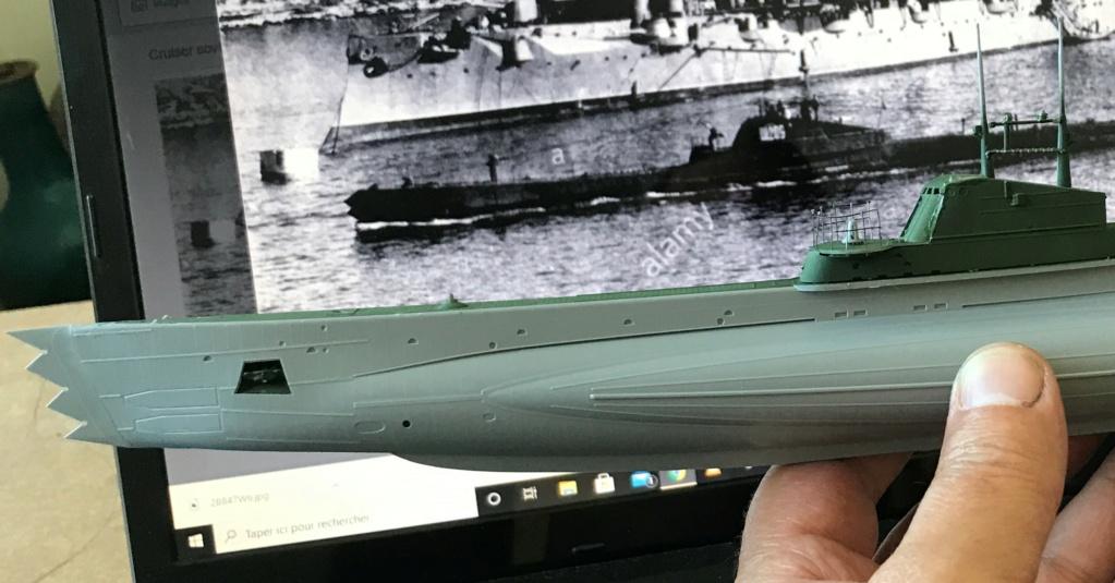 Sous marin Soviétique  SHCHUKA  classe X   (ZVEDA  1/144)    FINI Img_2613