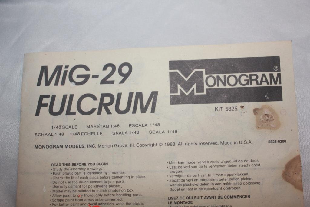Défi 2020 - MiG 29 ( Monogram 1/48) *** Terminé en pg 5 Img_4926
