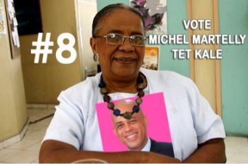 Martelly annonce sa victoire avec 69,74% des suffrages, Mulet appelle à la patie Mme_ma11