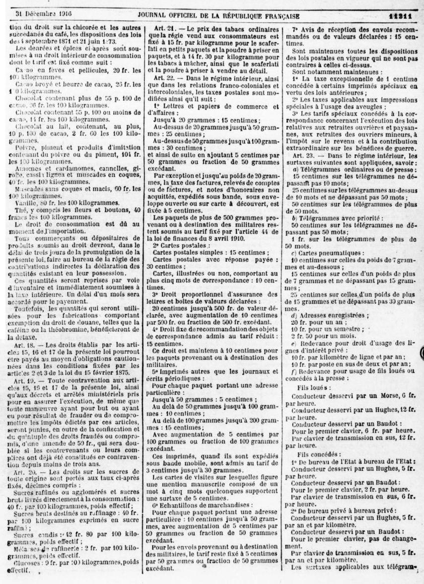 je cherche lettre chargée 1917-110
