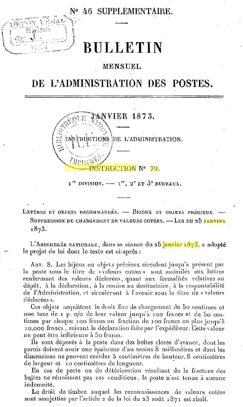 je cherche lettre chargée Loi_1811