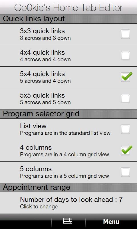 [SENSE MOD] CHTEditor - Co0KiE's Home Tab Editor Screen12