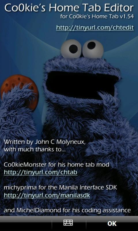 [SENSE MOD] CHTEditor - Co0KiE's Home Tab Editor Screen13