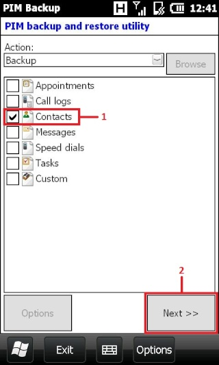 [TUTO] Importation des contacts WMx.x.x vers WP7 sans Outlook Screen17