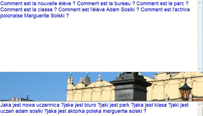 Programme de traduction français-polonais. Image211