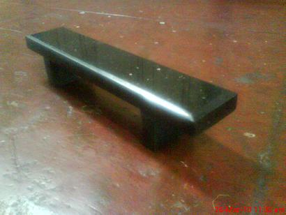 K-ramps Black Galaxy Granite barrier and bench for sale New10