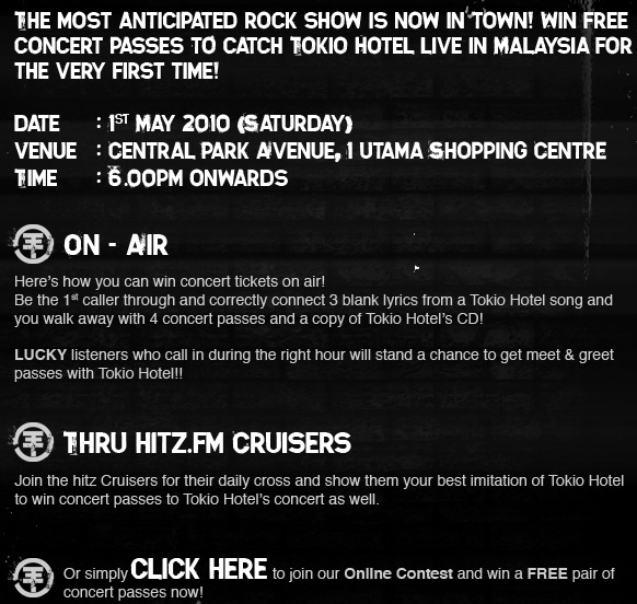 Win tickets and meet & greet passes with Hitz.FM! Hitzfm10