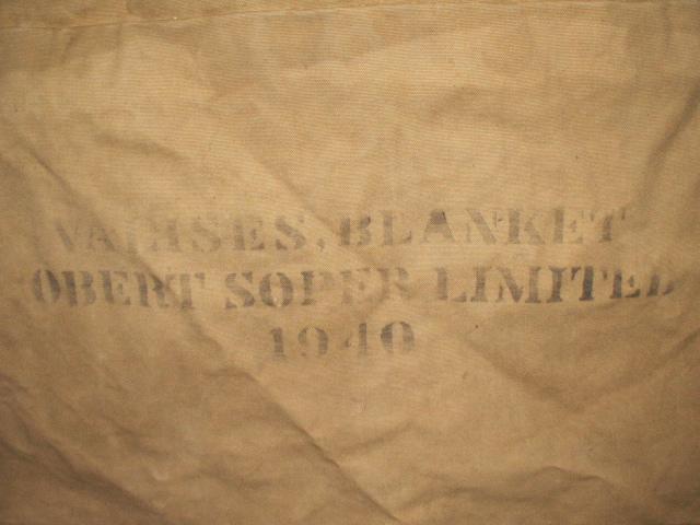 Huge 1940 Blanket Valise 00911