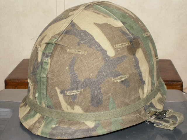 CF Used M1 Helmet With ERDL Cover 01115