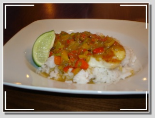 Tilapia grillé à la sauce thai au cari et à la noix de coco Dsc06121