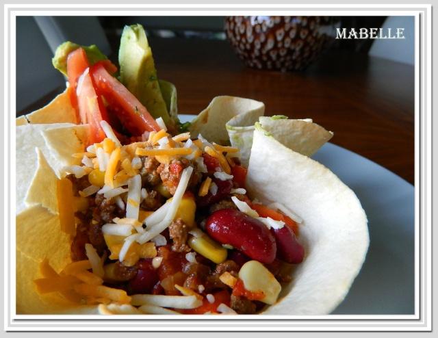 Salade mexicaine en fleurs de tortillas Salade10