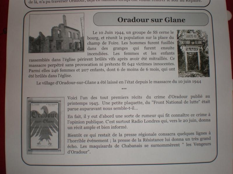 Le massacre d'Oradour-sur-Glane (Haute-Vienne) P3220014
