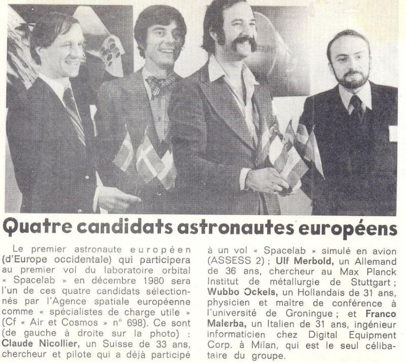 Octobre 1985 - Les nouveaux astronautes français 77123110