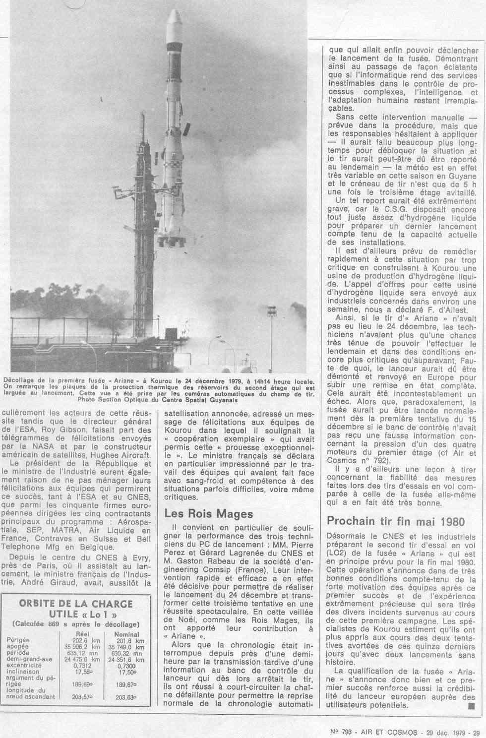 24 décembre 1979 - Début de l'ère d'Ariane 79122911