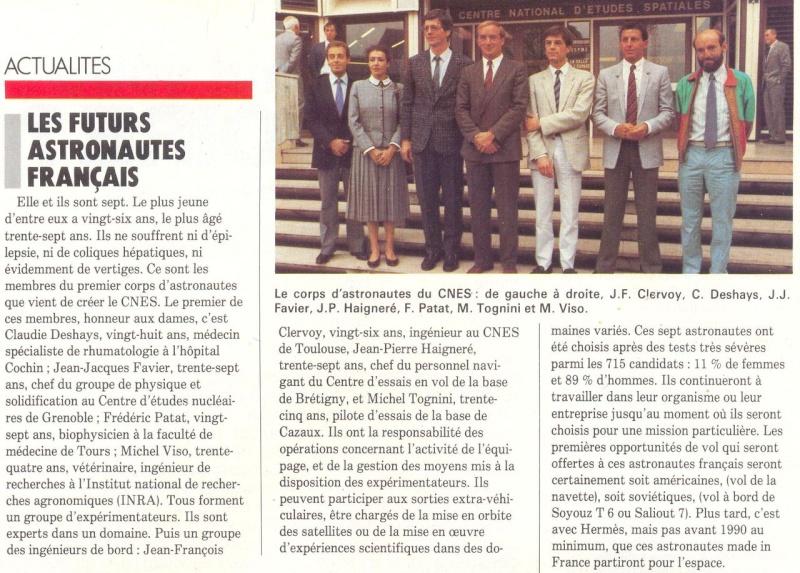 Octobre 1985 - Les nouveaux astronautes français 85100010