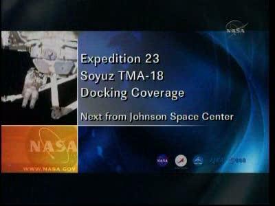 ISS : Amarrage de Soyouz TMA-18 le 4 avril 2010 Vlcsn413