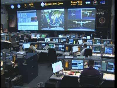 Salle de contrôle des vols de STS Vlcsn587