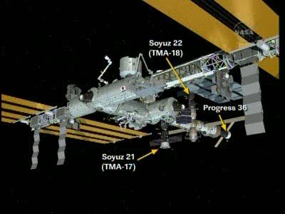 ISS : Amarrage de Progress M-05M le 1er mai 2010 Vlcsn641