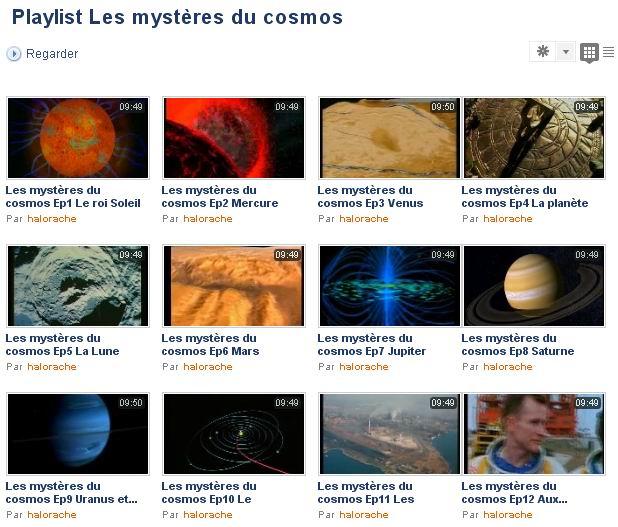 Dailymotion: Les mystères du cosmos (25 épisodes) Wincli42