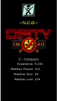 Clan which is CBL Dirty Ncg10