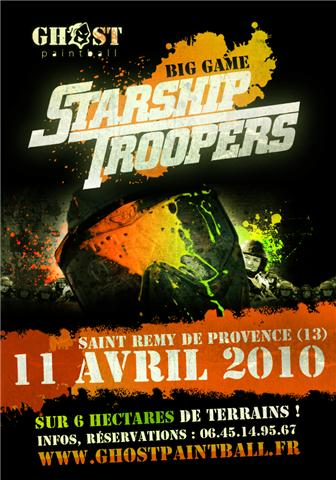 Big game starship trooper chez Ghost paintball Affich10