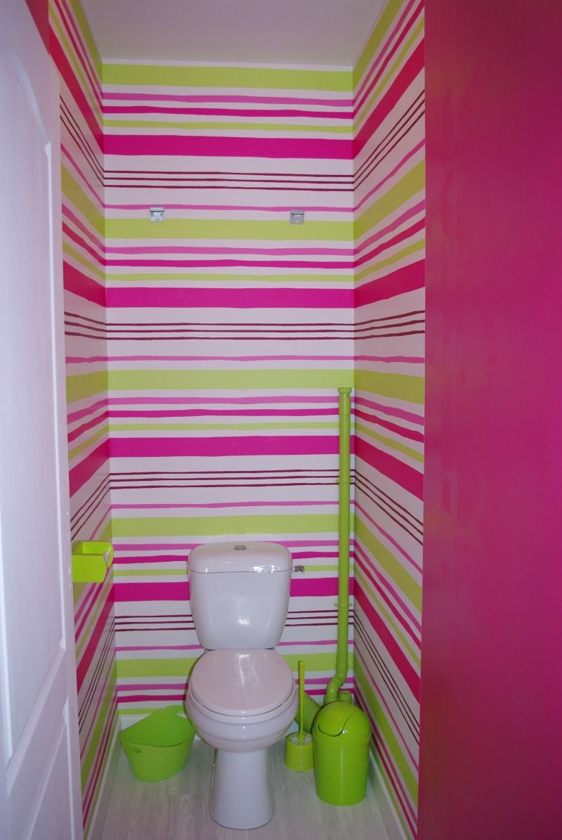 mes wc en vert anis et fushia tapisserie finie page 2. Black Bedroom Furniture Sets. Home Design Ideas