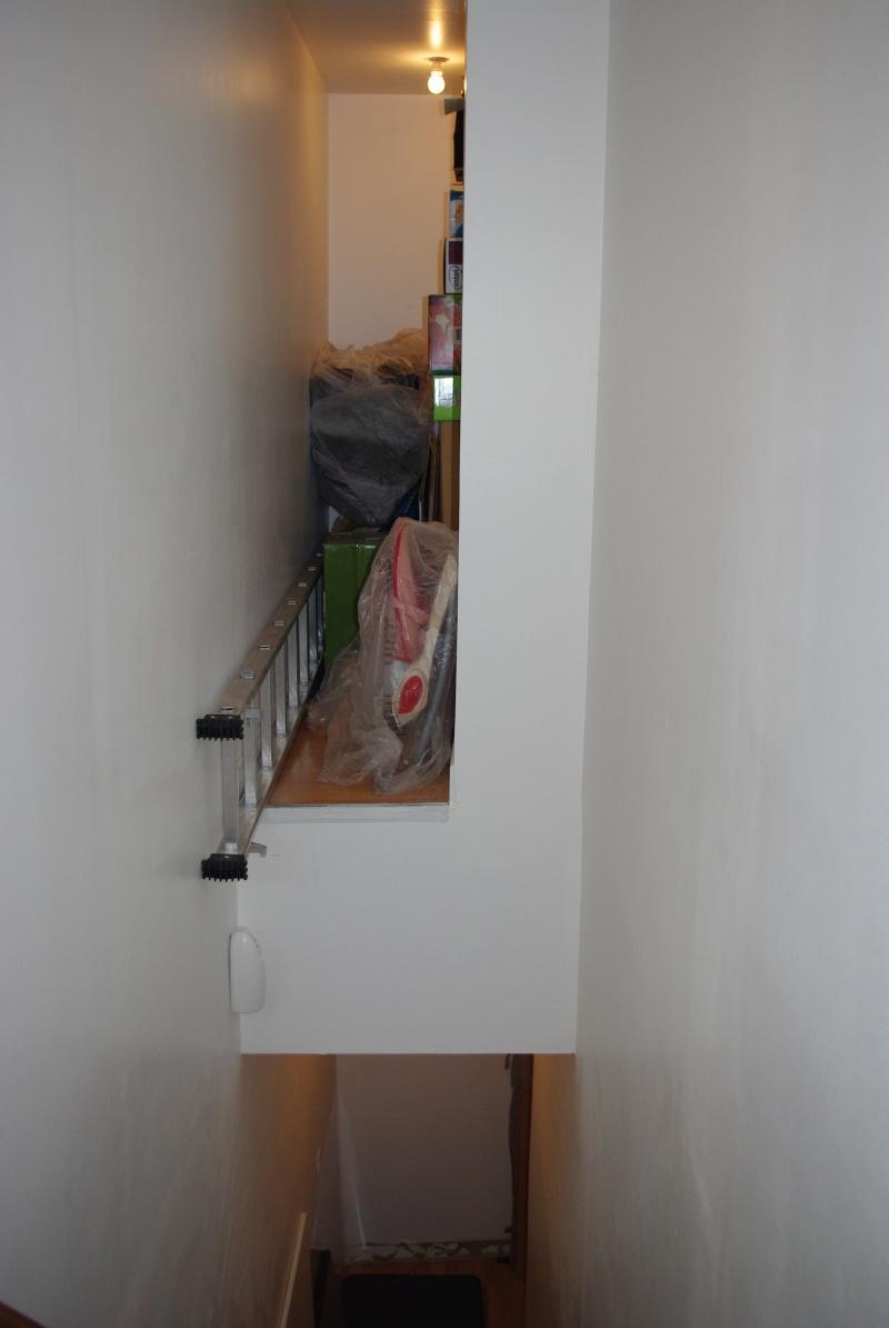 3 en bas de la cage descalier sous le tapis se trouve la trappe de la cave on a agrandit le trou dhomme et pour ce faire les plinthes ont t