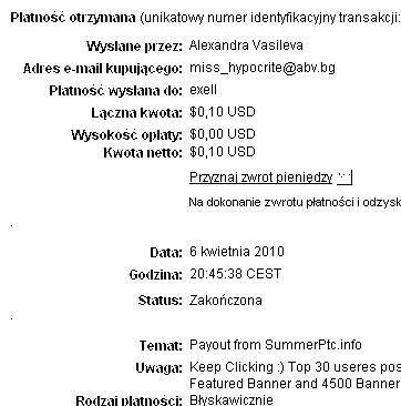 1st Payment Summer10