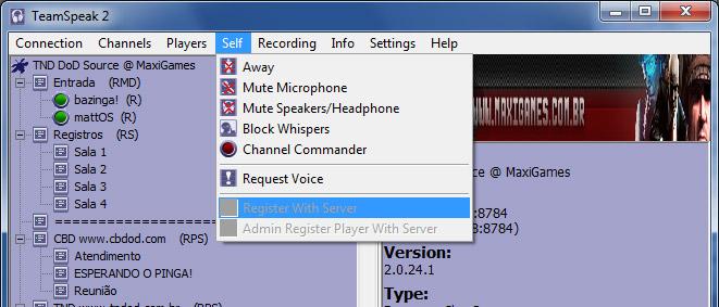 Como instalar o Team Speak 410