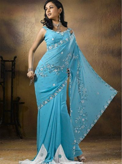 Модные сари. Shali010