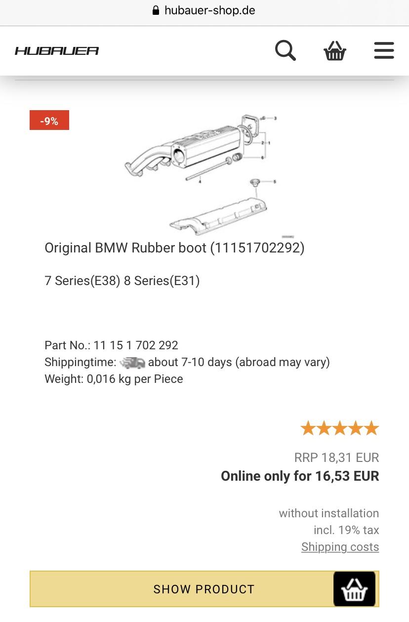 [E38 M73] Remplacement joint de cache culasse 7b5ea810